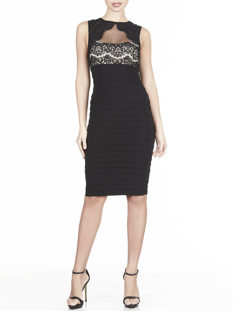 The Nephra Bandage Dress Is The Perfect Lace For Any Occasion, Online Available In Black