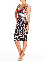 Leora print Wrap Dress
