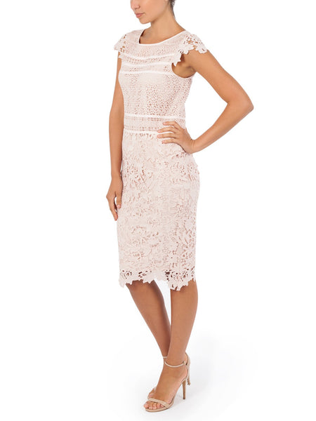 The Alice Lace Skirt An Elegant Crochet Lace Skirt Available In Pink