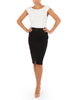 Black Stretch crossover Pencil skirt