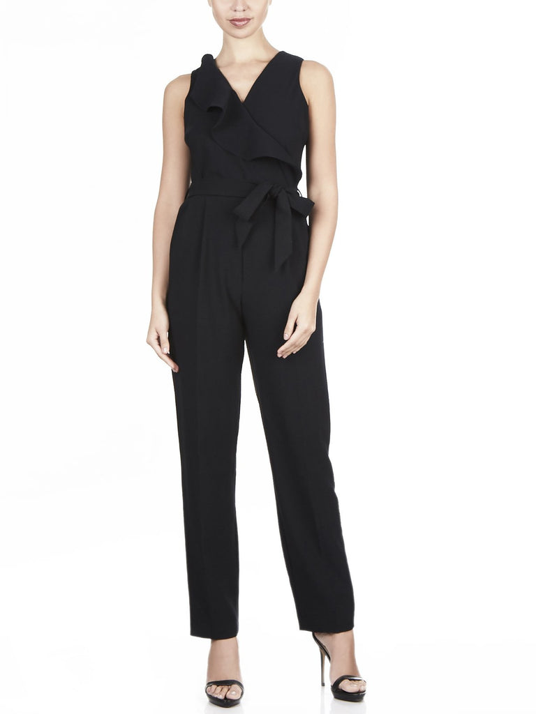 The Bettina Stretch Crepe Jumpsuit Available in Black