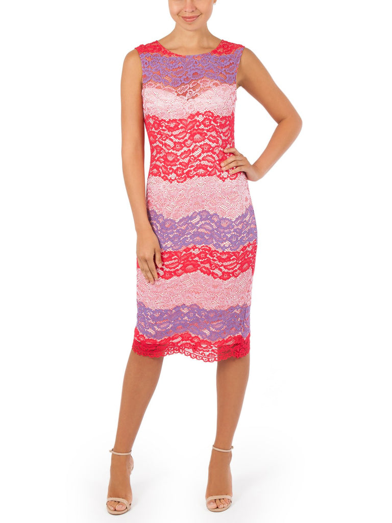 The Poppy Lace Dress Is a Lovely Body Con Style Dress Available in Pink