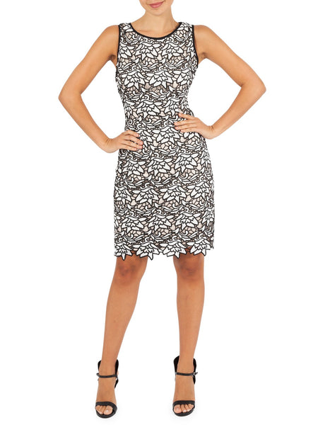 Kate Lace Shift Dress Avaliable In Black Print
