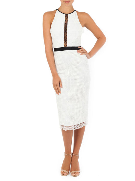 Blake Monotone Lace Dress Is A Gorgeous Crochet Lace In White