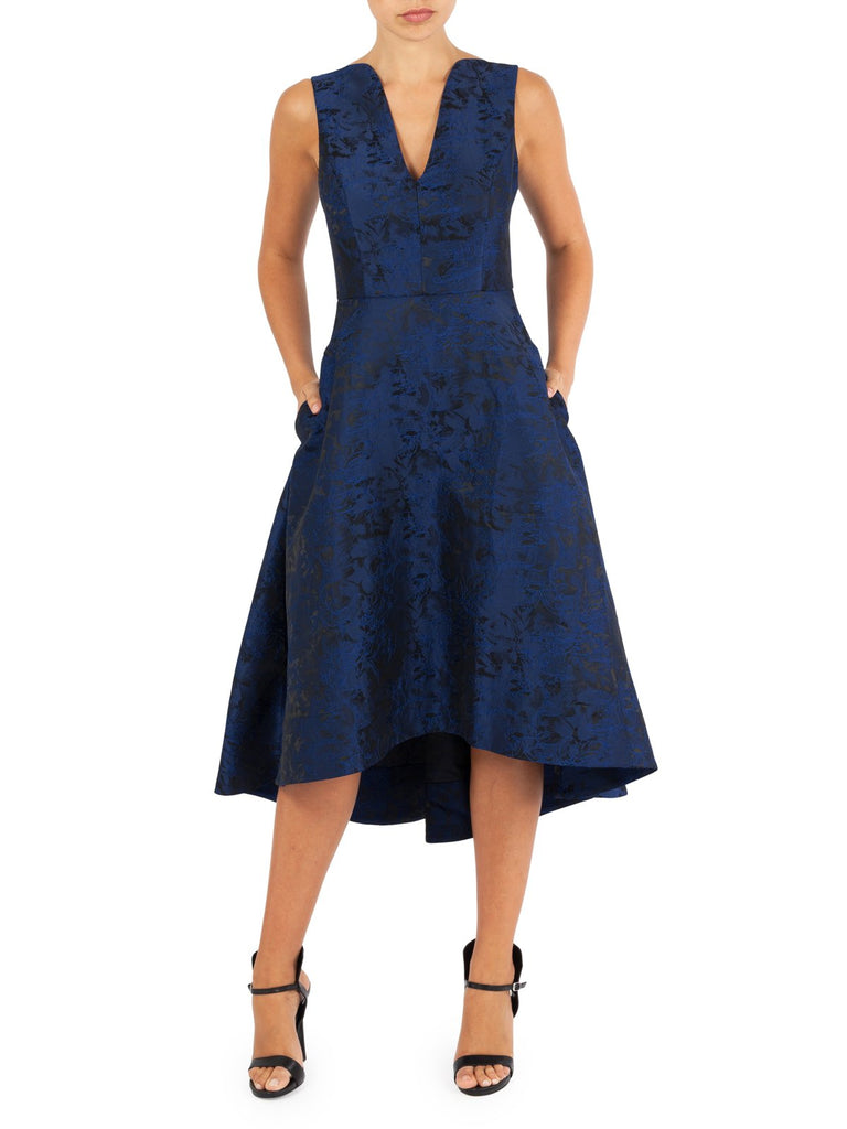 Carpriani Jacquard Party Dress Avaliable In Navy and Black