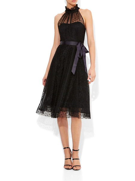 Marchesa Spot Cocktail Dress