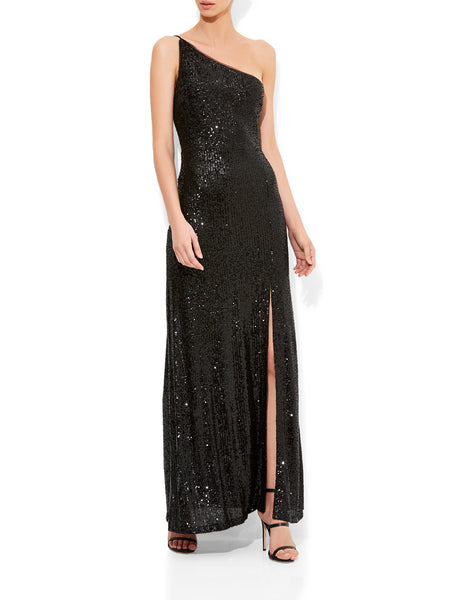 Elle Sequin Black Gown