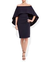 Aerin Navy Crepe Dress