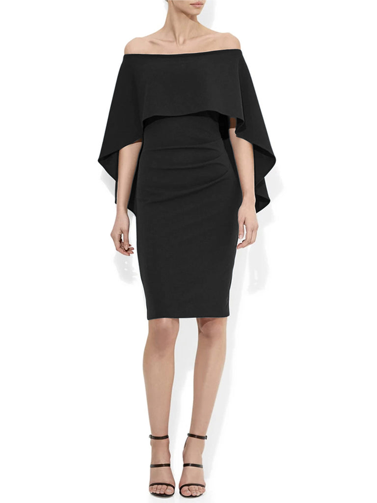 Aerin Black Crepe Dress