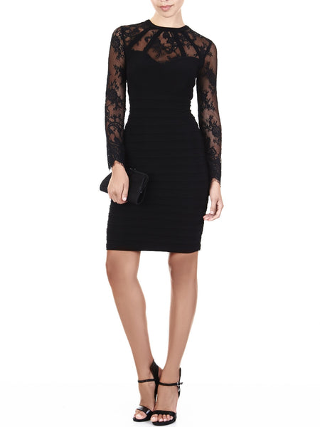 The Bridgette Bandage Dress Is The Ultra-Feminine Little Black Dress
