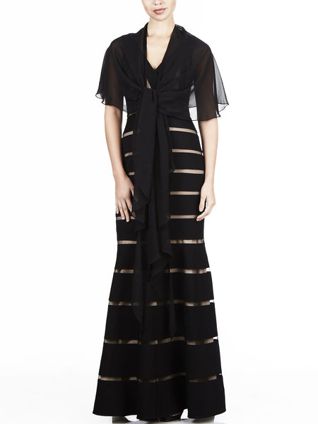 The Anastasia Chiffon 3 Way Wrap Is a Versatile Item To Have In Your Wardrobe, Available In Black.