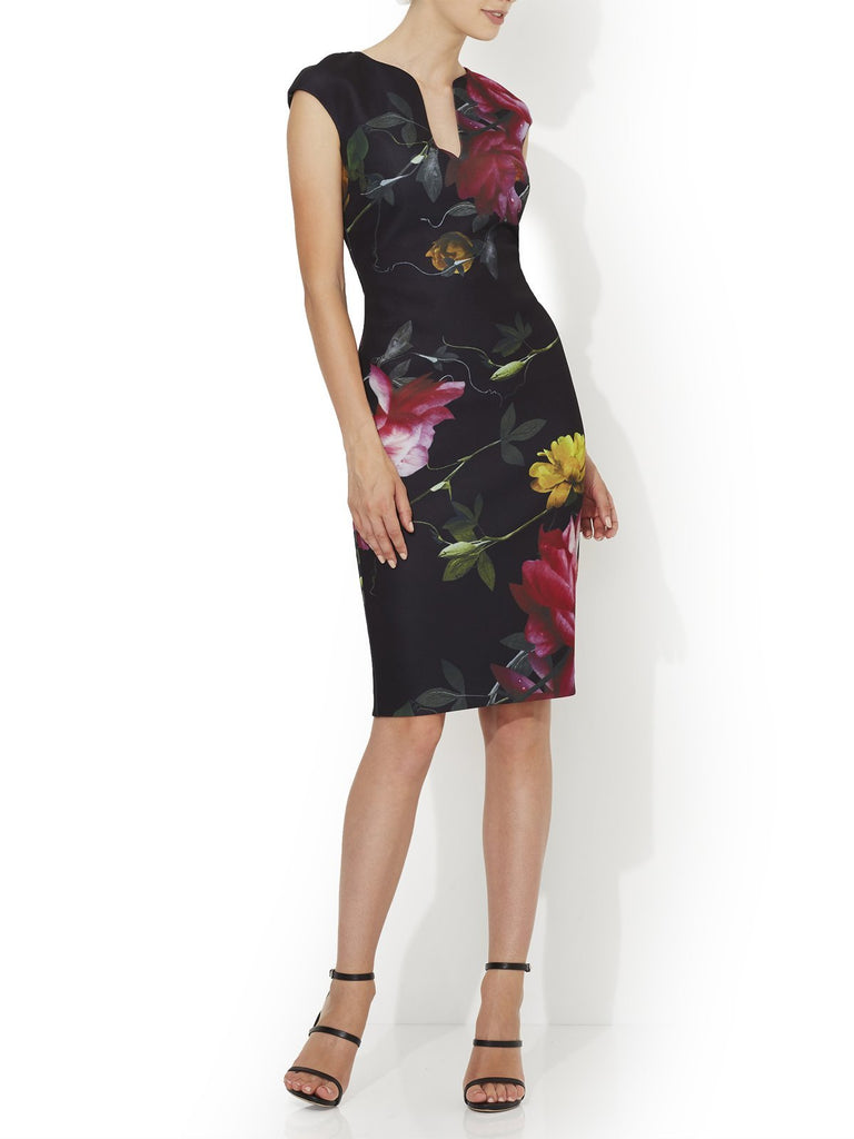 Liliana Printed Scuba Dress