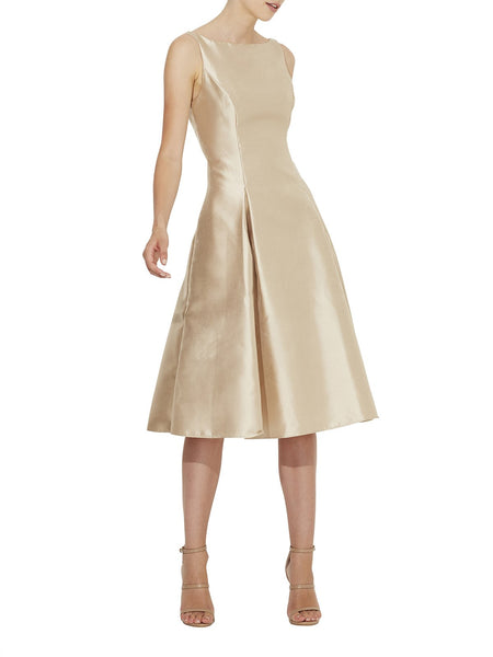 Feminine A-Line Taffeta Cocktail Dress