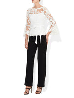 Hallie Lace Top Ivory