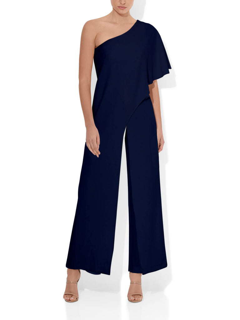 Harper Navy One Shoulder Jumpsuit