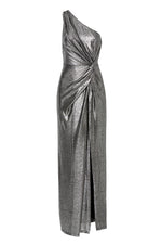 Lopez One Shoulder Metallic Gown