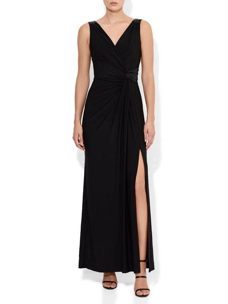 Amalia Jersey Wrap Dress