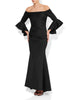 Tessa Black Scuba Gown