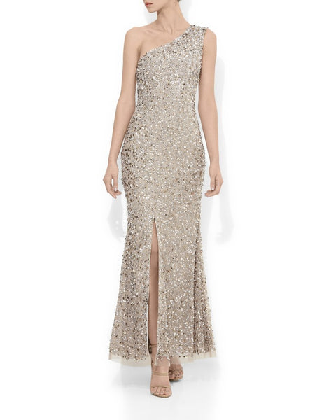 Coco Beaded One Shoulder Gown