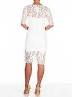 Serena Ponte Lace Dress