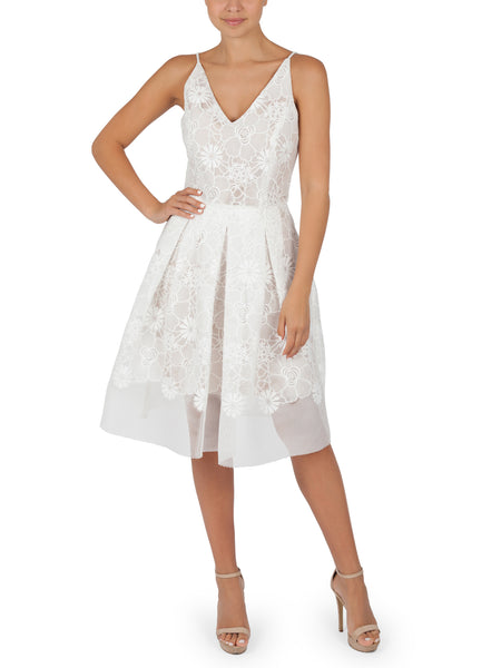 Adele Ivory Cocktail Dress