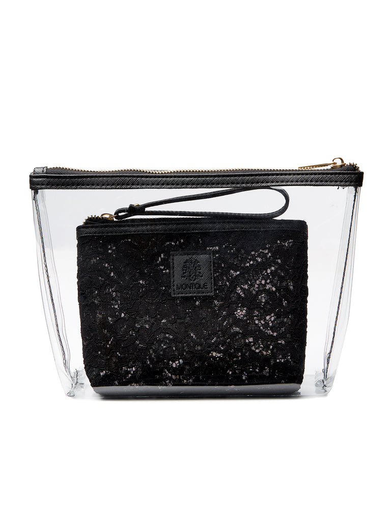 Transparent and Lace Cosmetic Bag