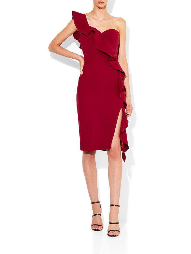 Luna Wine Cocktail Dress