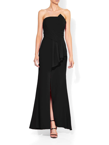 Hope Black Strapless Gown