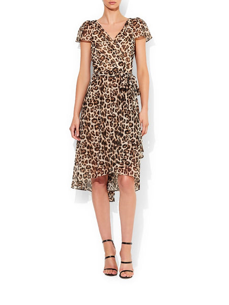 Sierra Animal Chiffon Print Dress
