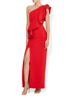 Mila One Shoulder Gown Red