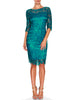 Gia Guipure Teal Lace Dress