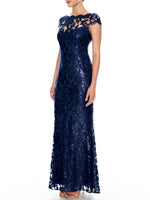 Aubrey Embroidered Gown
