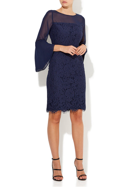 Evie Chiffon Lace Dress