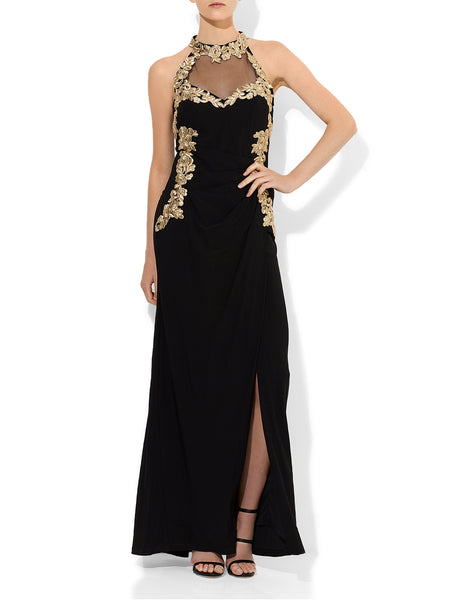 Xena Lace Applique  Gown