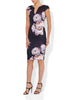 Paige Plum Printed Scuba Dress