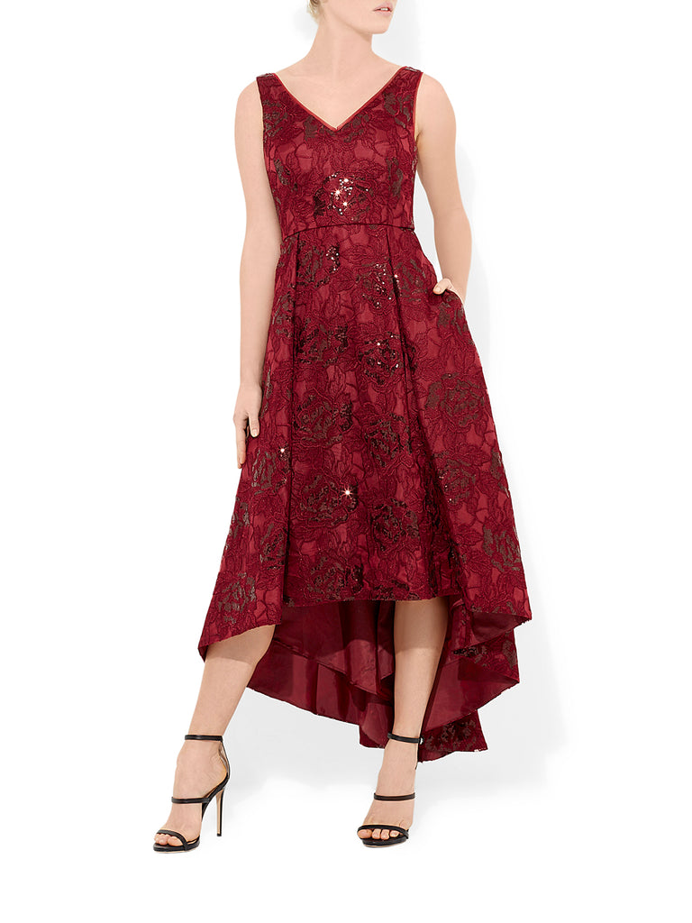 Brea Wine Cocktail Dress