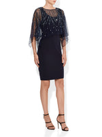 Evangelina Navy Hand Beaded Dress
