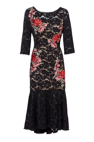 Carmen Lace Fit & Flare Dress