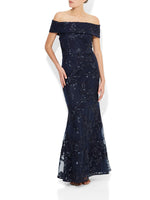 Hope Navy Sequin Gown