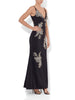 Luisa Applique Gown Black