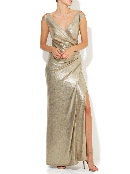 Milani Gold Foiled Gown