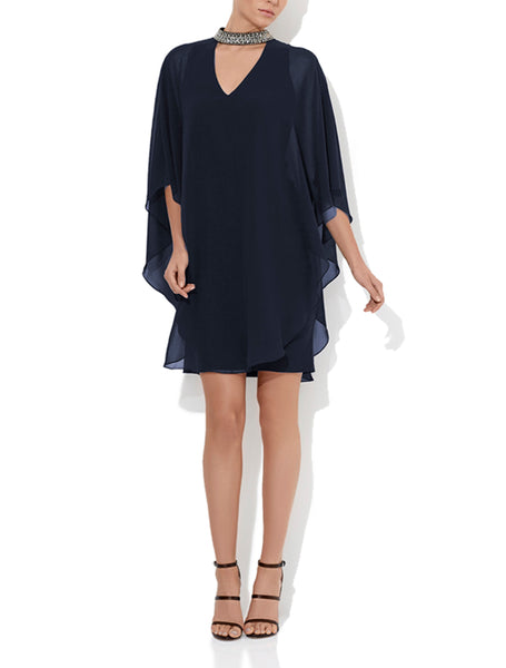 Celeste Navy Cocktail Dress
