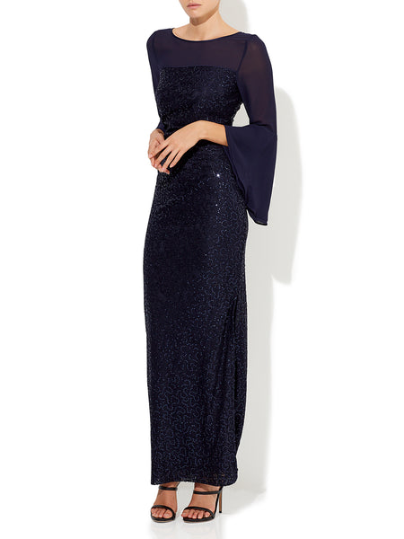 Amelia Bell Sleeve Gown