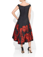 Margherita Jacquard Rose Dress
