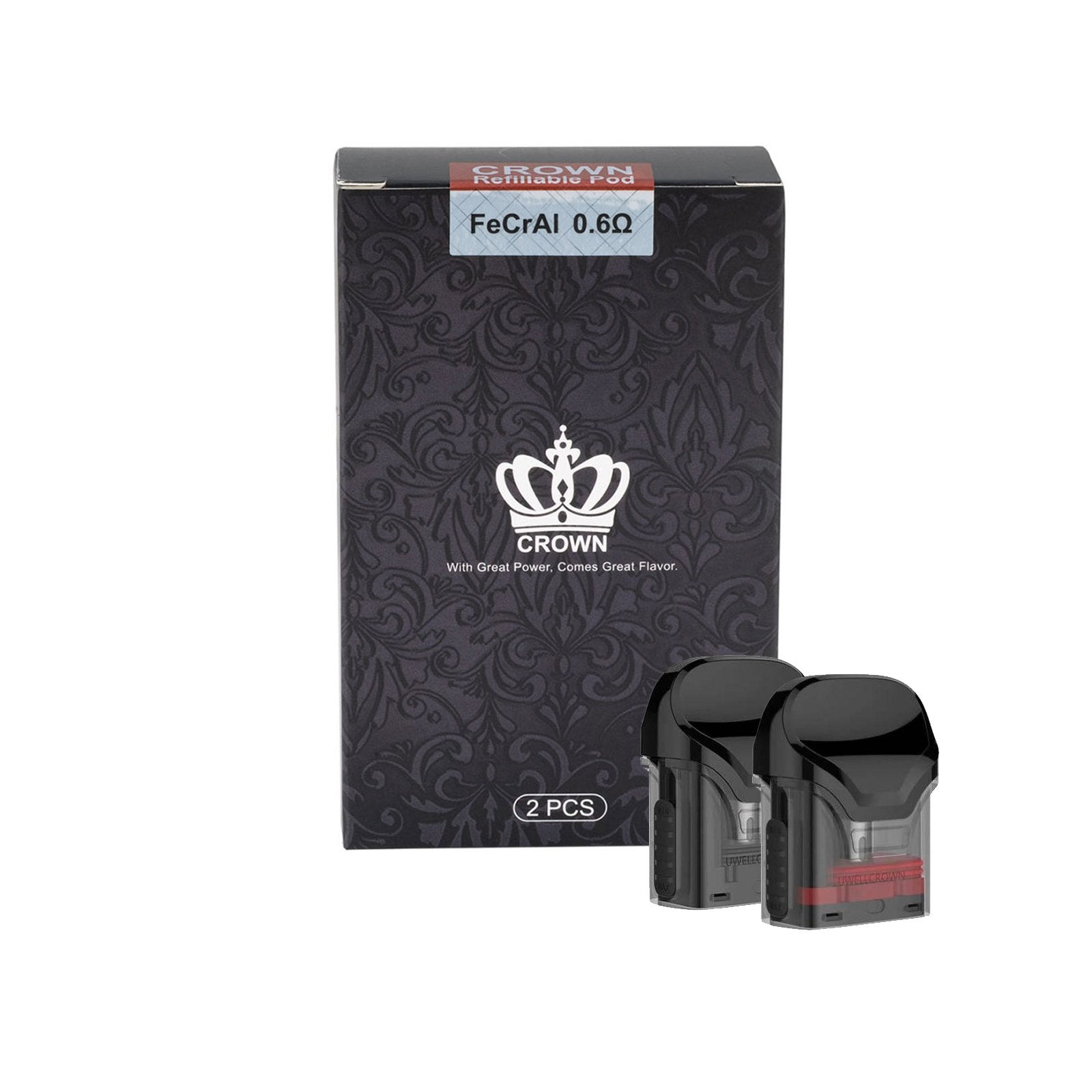 Uwell Crown replacement pods - 0.6 Ohm