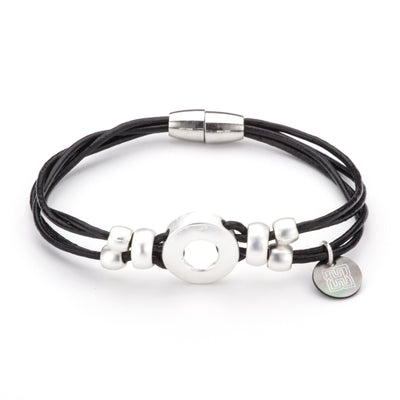 "Pirori Leather Bracelet With ""H"" Tag"