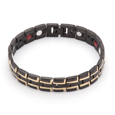 Roman Hauora Bracelet In Black And Gold