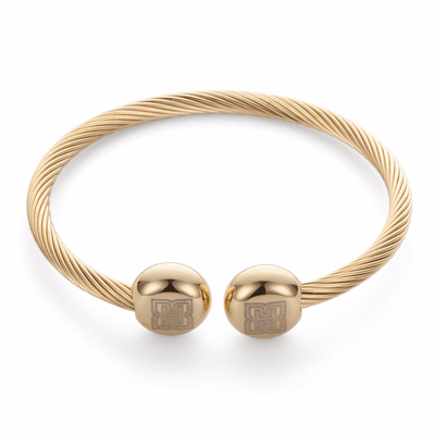 Double Porohita Magnet Cuff In Gold