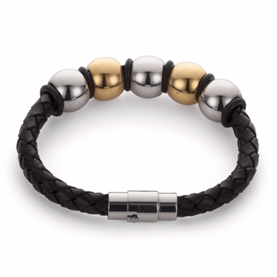 Koru Leather Balon Cinco Bracelet