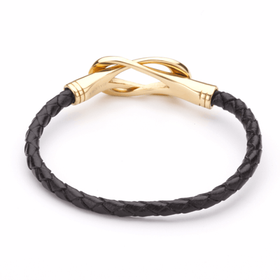 Koru Leather Bracelet With Twin Eternity Hoops